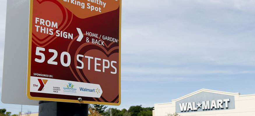 Walmart wants you to get more exercise by parking farther away