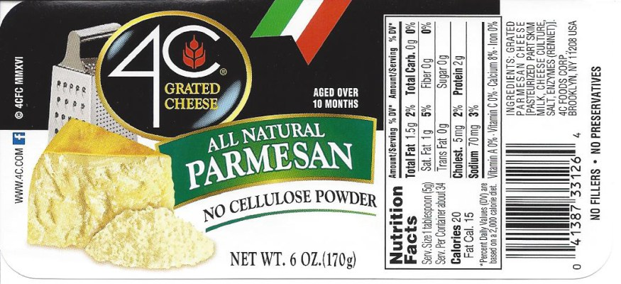 4C grated cheese recalled nationwide