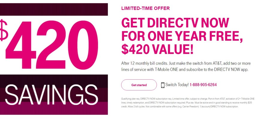 Switch to T-Mobile now and get $420