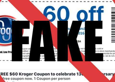Kroger warns shoppers of fake $60 off coupon