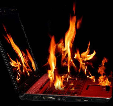 Dell laptop explodes 4 times in terrifying surveillance video