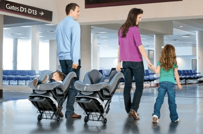 This handy car seat can make traveling with kids a whole lot easier (and save you money!)