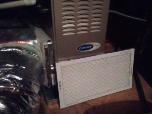 HVAC furnace and filter