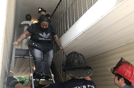 Second-floor residents of apartment building trapped after complex removes stairs