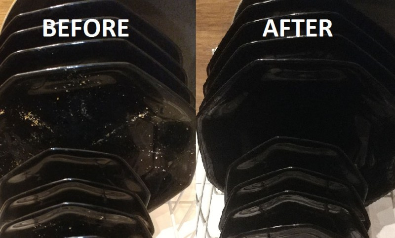 DIY dishwasher tabs before and after
