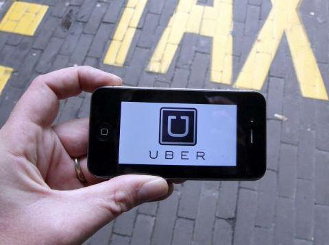 Uber on smartphone