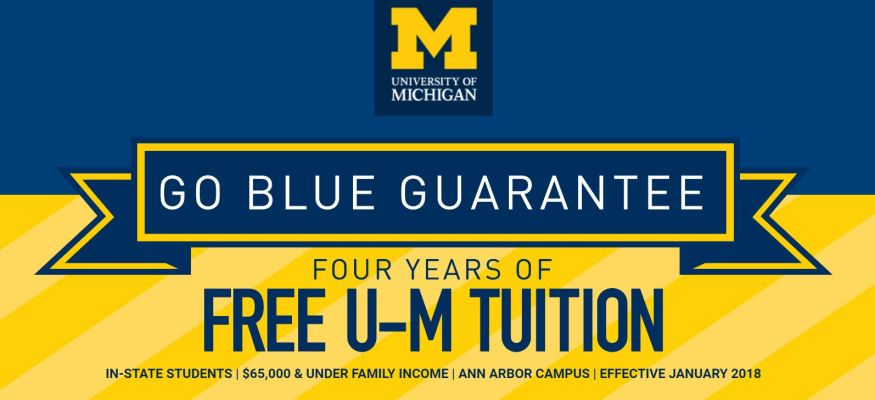 University of Michigan unveils free tuition plan for some students