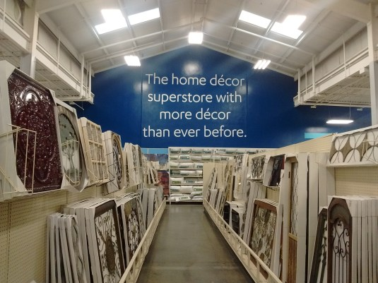 Home decor superstore At Home signage