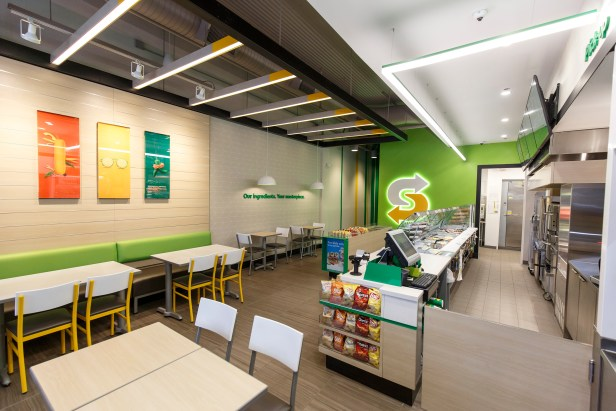 Subway new seating and free Wi-Fi