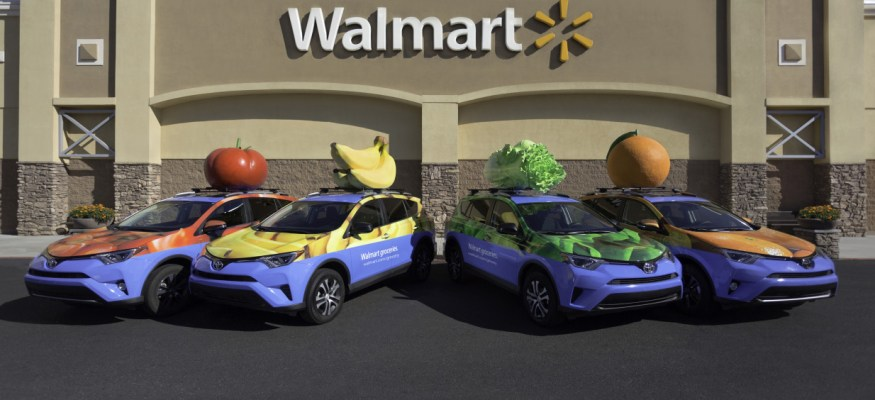 Walmart grocery deliver fleet