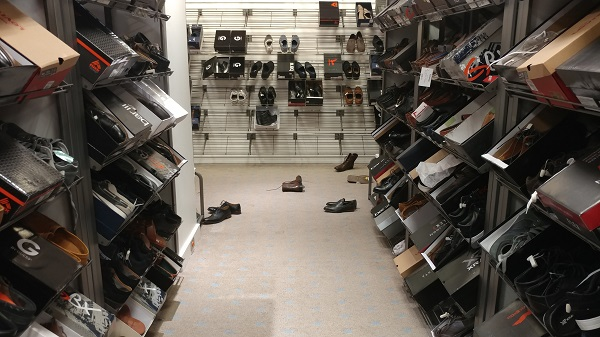 Men's shoe section at Macy's Backstage
