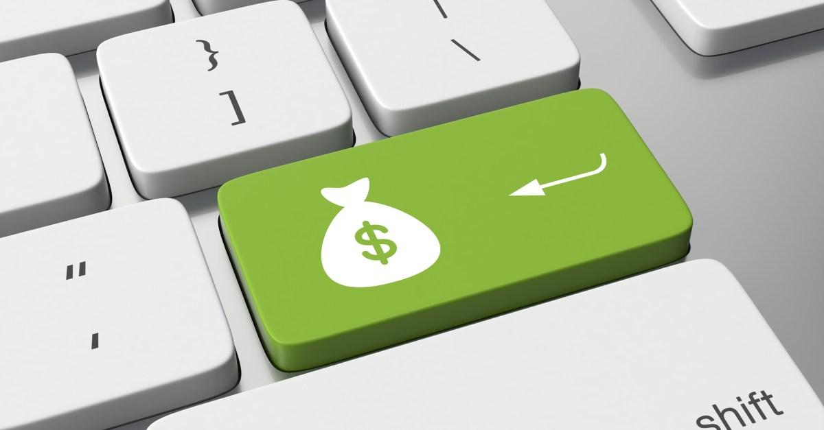 money bag key on a keyboard