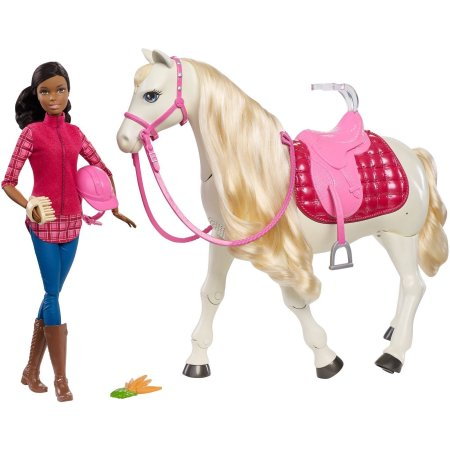 Barbie Dream Horse and African-American Doll