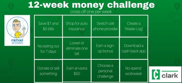 Clark's 12-week money challenge