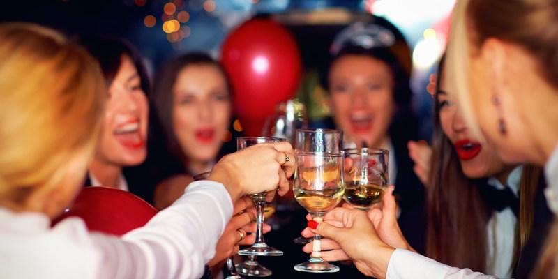 women celebrating