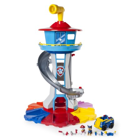 Paw Patrol ' My Size Lookout Tower with Exclusive Vehicle, Rotating Periscope and Lights and Sounds