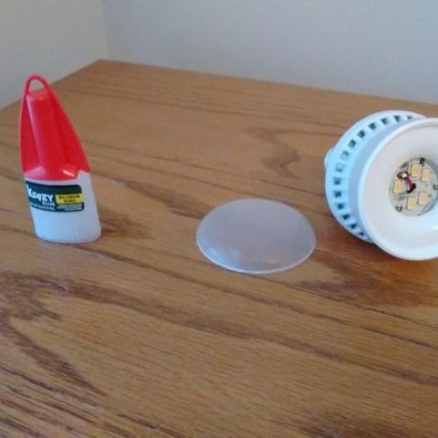 Broken LED bulb and super glue