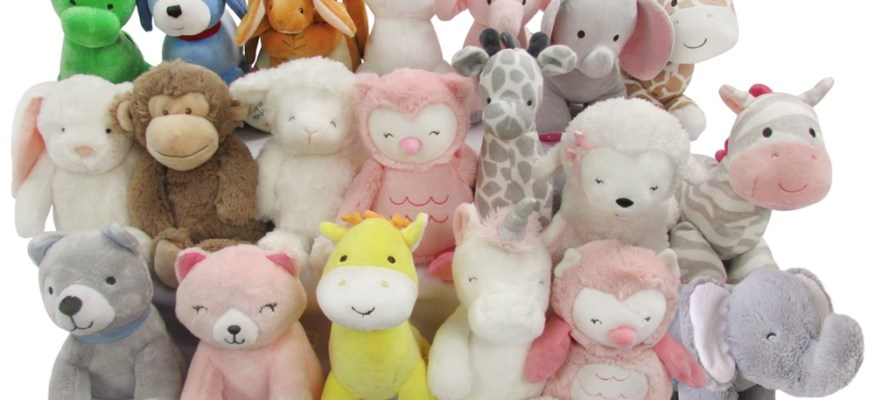 Waggy plush wind-up musical toys
