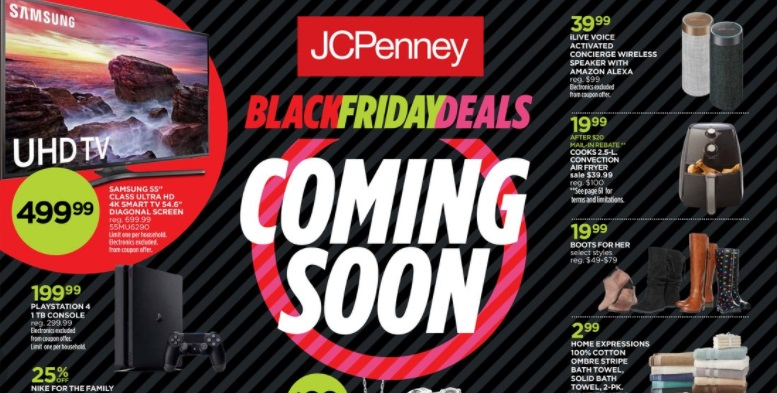 3 things to know about J.C. Penney's Black Friday 2017 deals