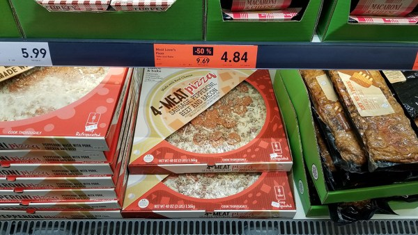 Lidl orange signs highlight markdowns