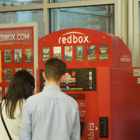 Couple renting from Redbox
