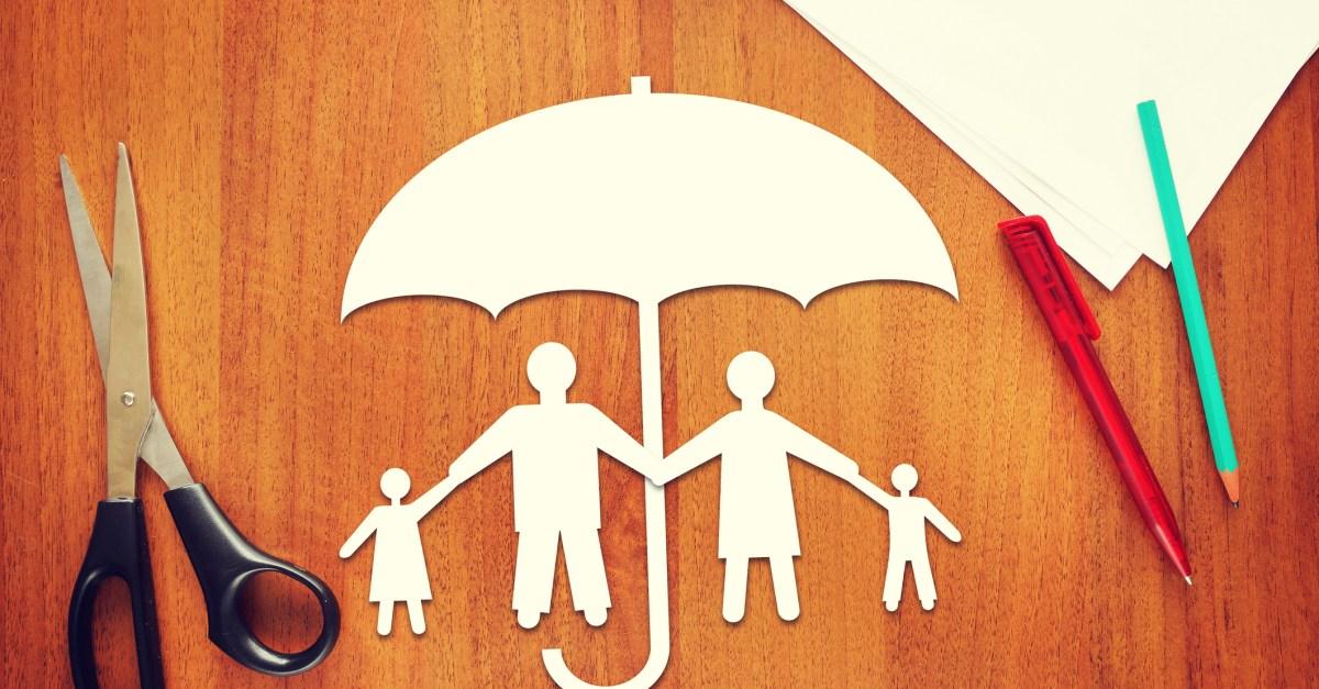 Term life insurance family under umbrella
