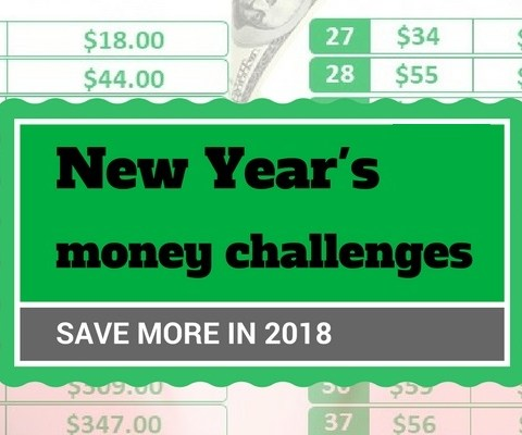 5 New Year's money challenges to save more in 2018