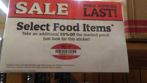 Cost Plus World Market while supplies last