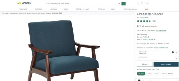 Warning Retailers Selling Identical Furniture Under