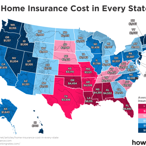 home insurance cost by state