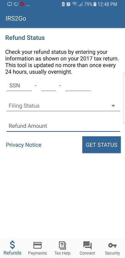 IRS2Go app