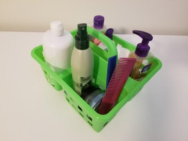 3-compartment plastic caddy