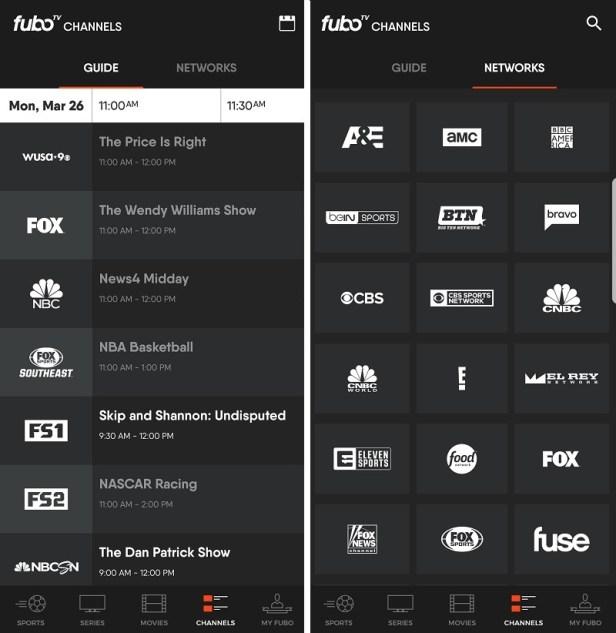 Easy navigation with fuboTV