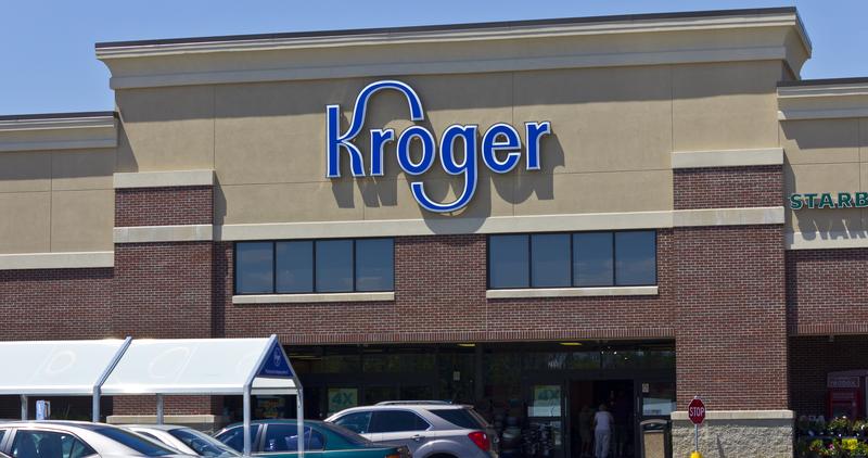 Kroger sign on building