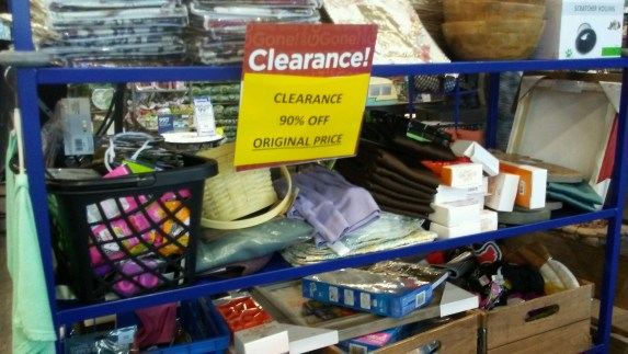 90% off clearance