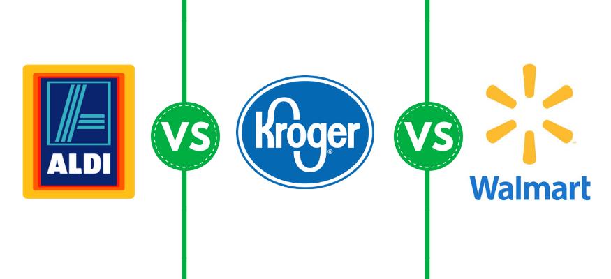 Aldi vs. Kroger vs. Walmart price comparison