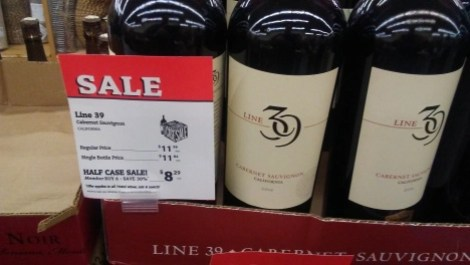 half case sale on wine at cost plus world market