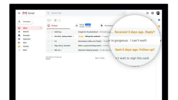 """Gmail's """"nudge"""" feature"""