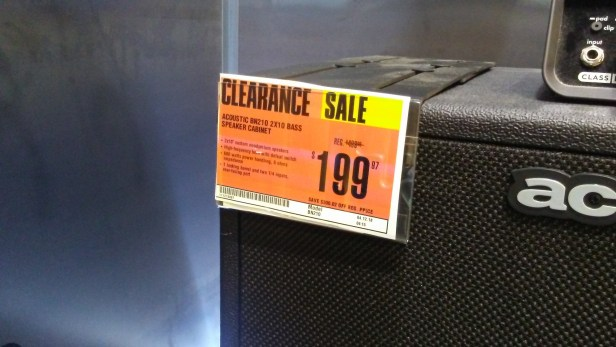 acoustic clearance sale