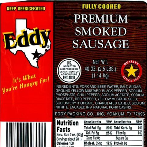 Recall alert: Smoked sausage sold in several states may contain plastic