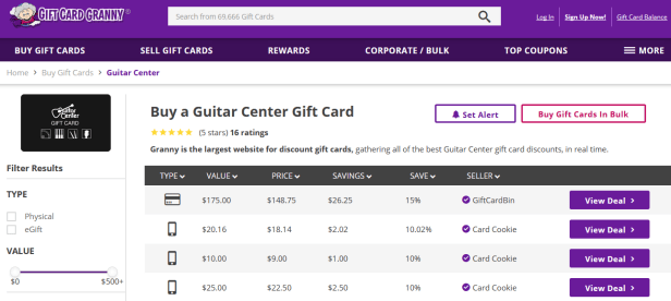 gift card granny guitar center gift cards