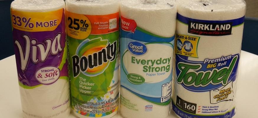 Best paper towels: Bounty vs  Costco vs  Viva vs  Walmart