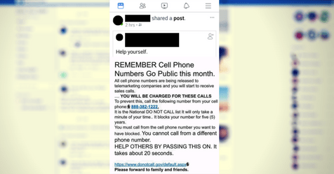 Why you should ignore that Facebook cell phone 'Do Not Call