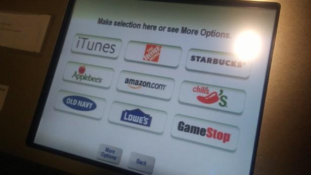 coinstar gift card screen 1