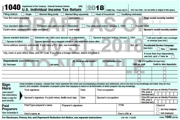 A New Irs Form 1040 May Be On The Way Heres What You Need To Know