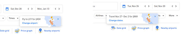 How to save money with Google Flights: Pop-ups new