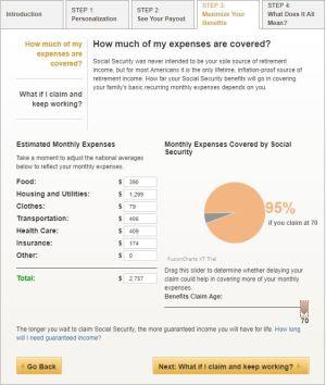 AARP Social Security calculator 3.5
