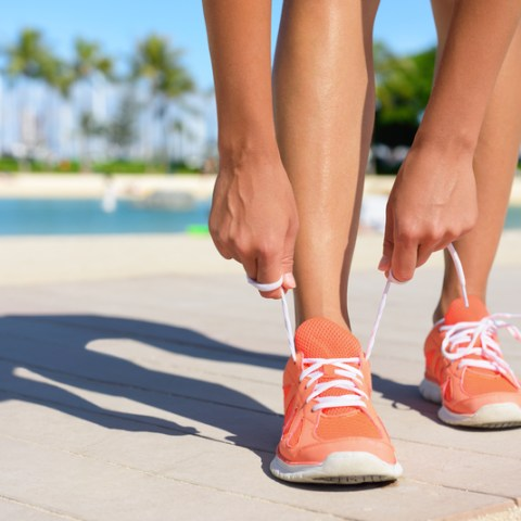 exercise running shoes