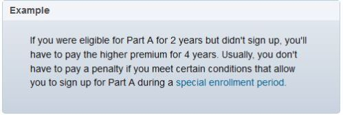 Medicare Part A late enrollment penalty