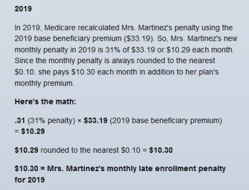 medicare part D late enrollment penalty